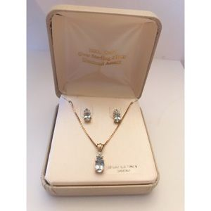 ✨NEW in box - Blue Topaz Necklace &  Earring Set ✨